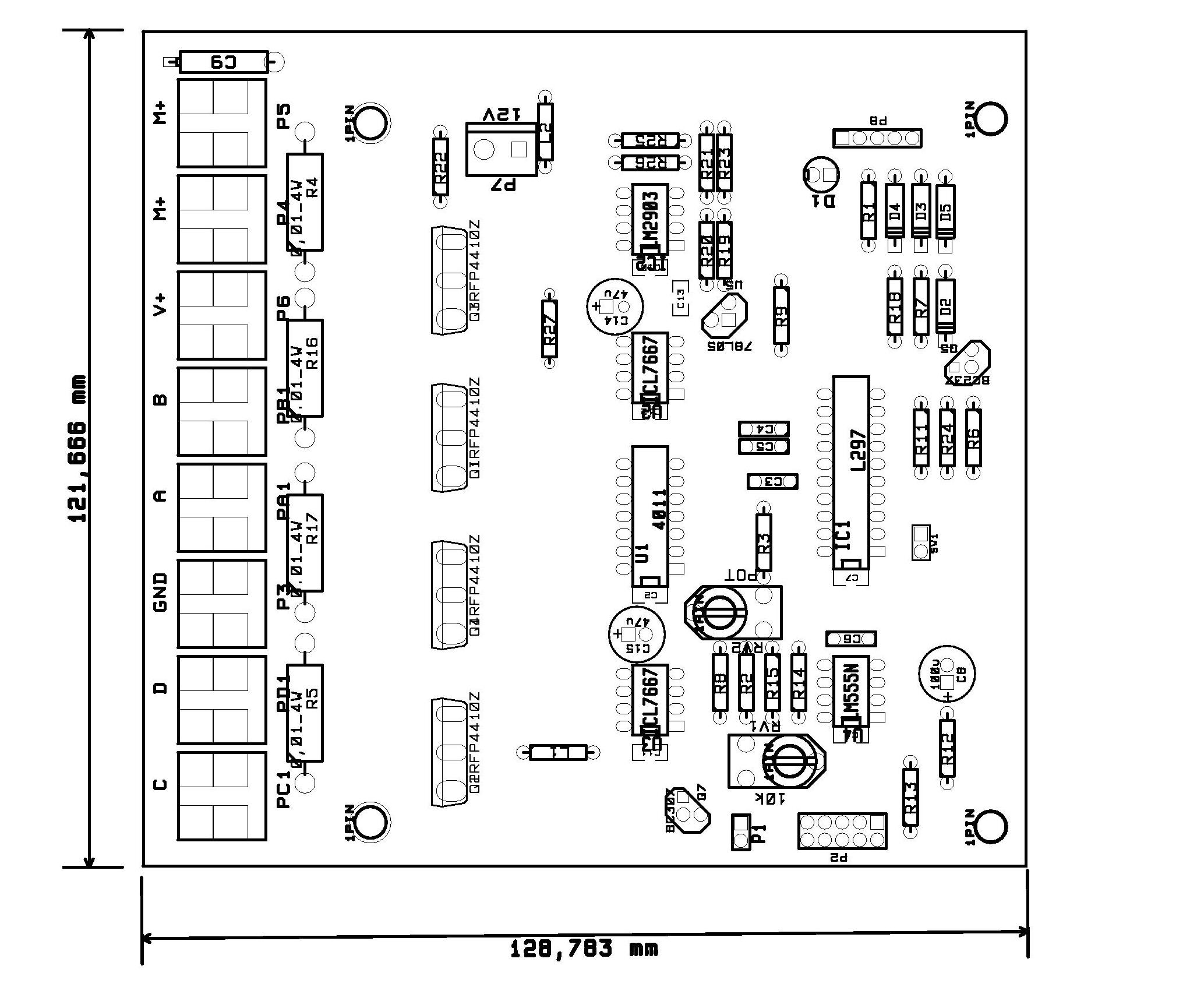 20a Unipolar Stepper Driver Circuit For A Motor With Two Phase Bipolar Or Four Bild